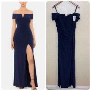 Xscape Gathered Off-the-Shoulder Dress XC170